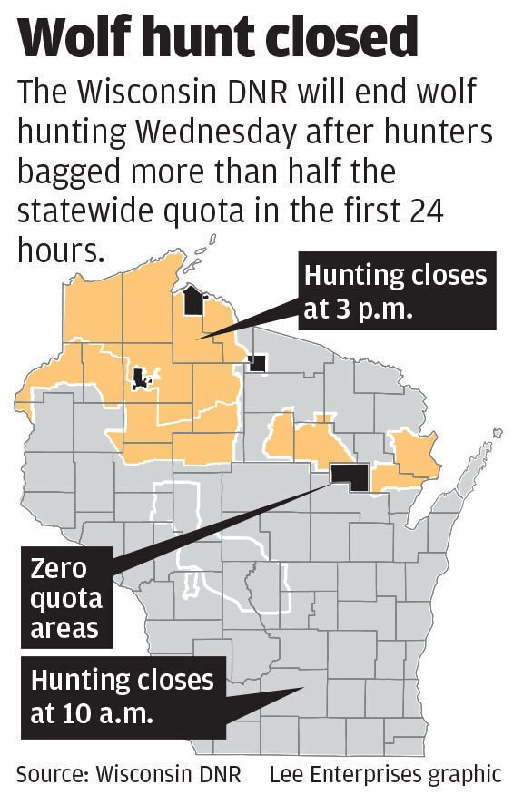 Wolf hunt zone map