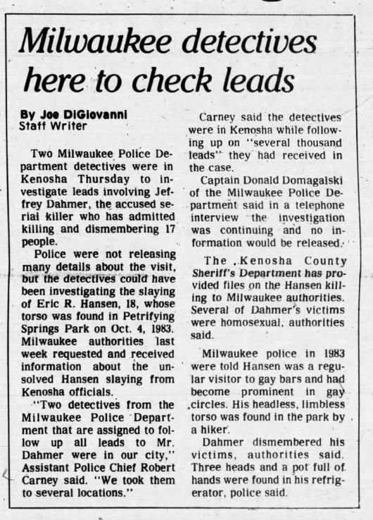 2 Aug 1991, Fri ·  Kenosha News (Kenosha, Wisconsin) ·  Page 1.pdf