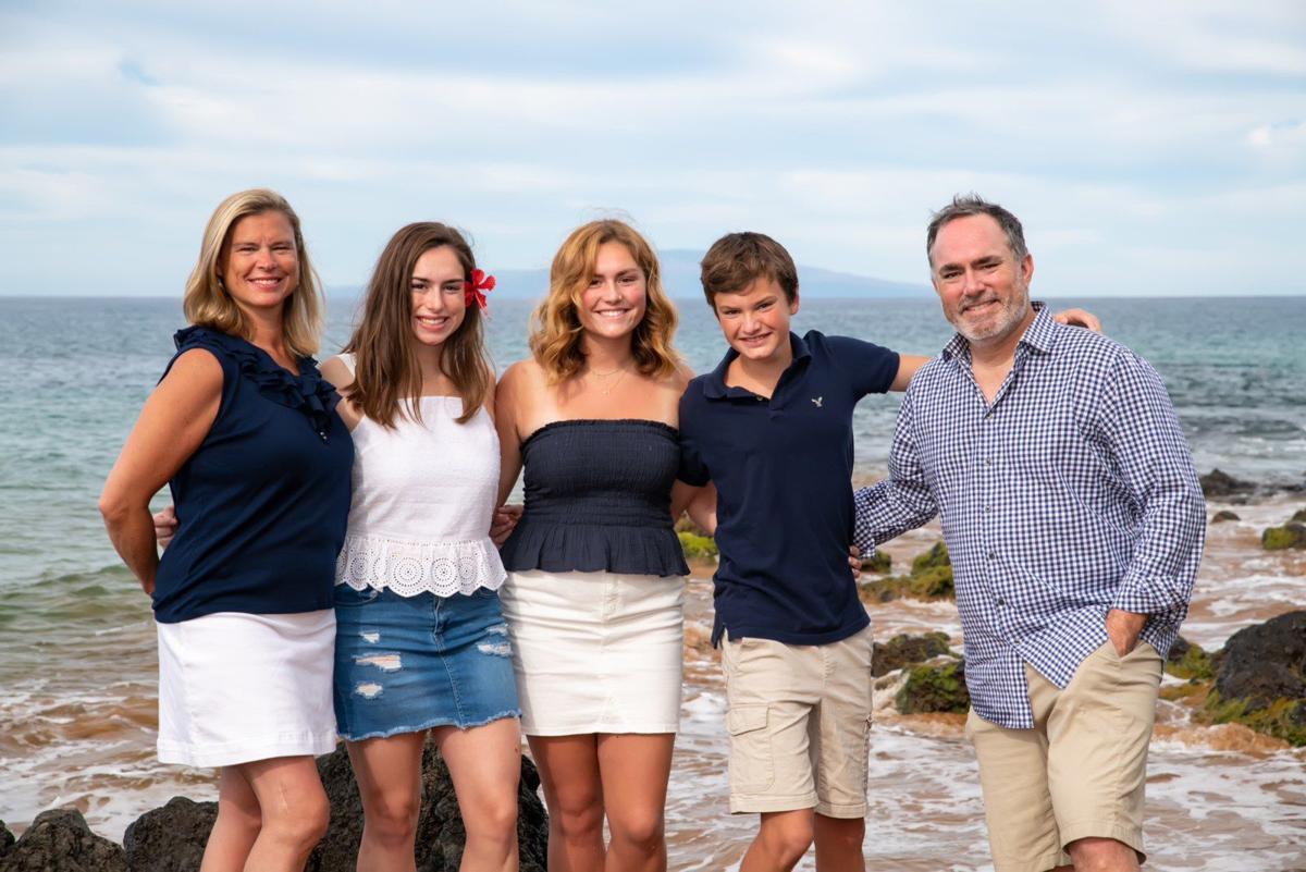 Karen Dover and family - coronavirus survivor