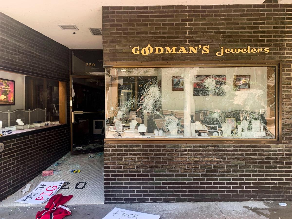Goodman Jewelers damage
