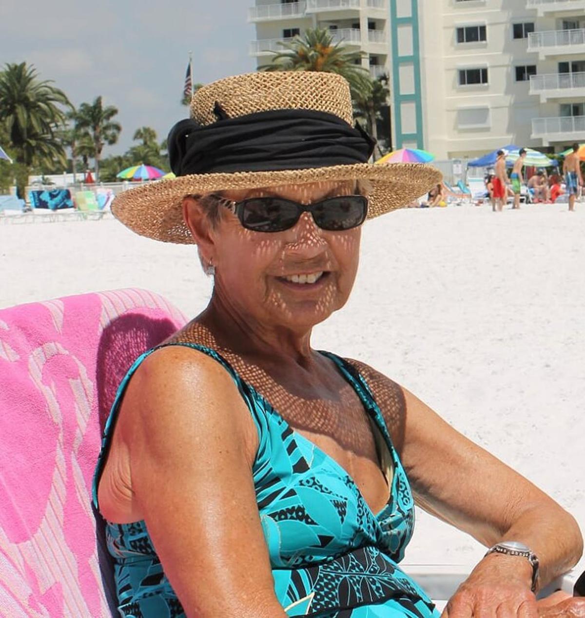 Lori on the beach