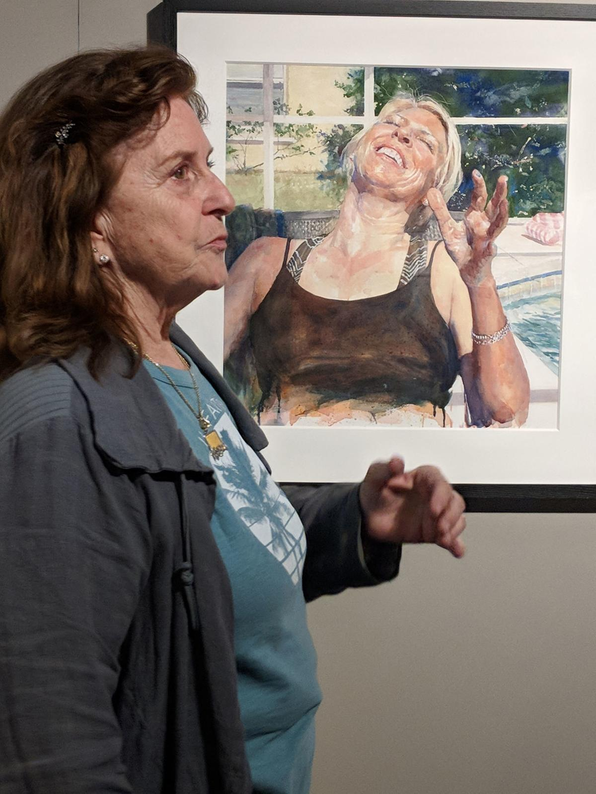 watercolor show Donna Jill Witty with painting.jpg