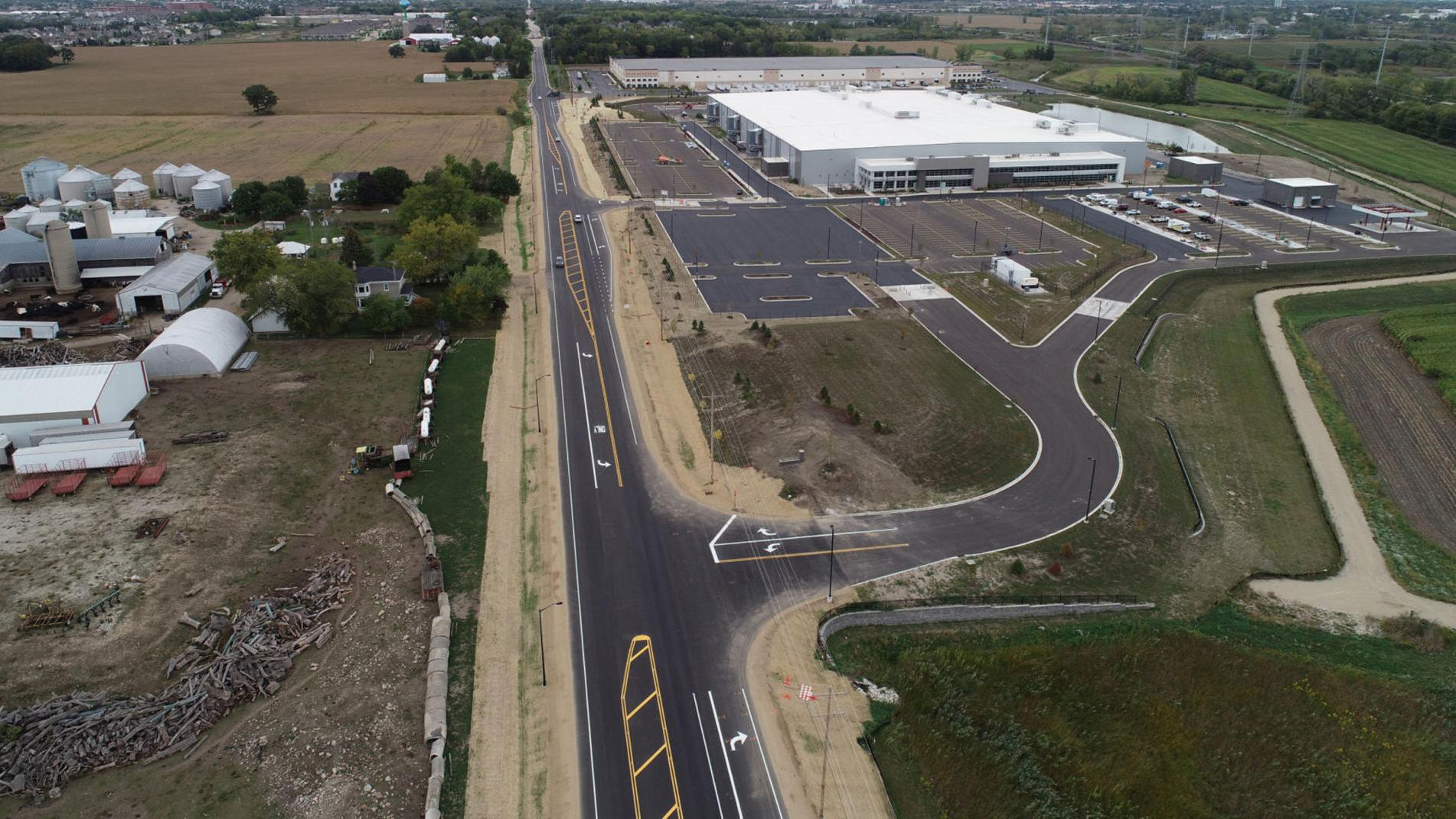 Kenosha County marks completion of newly rebuilt Highway H in Pleasant Prairie that will boost the new Kroger Delivery fulfillment center