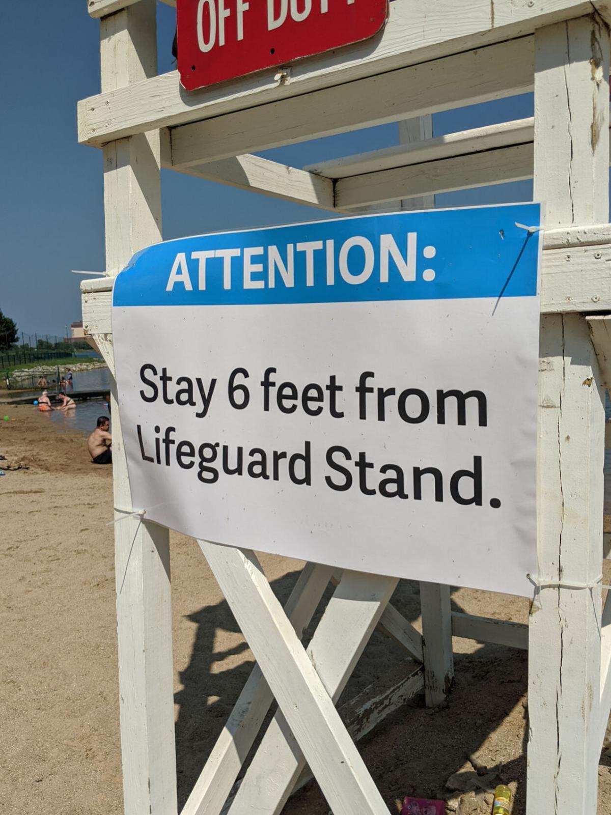 Beaches 2020 Lake Andrea lifeguard sign.jpg