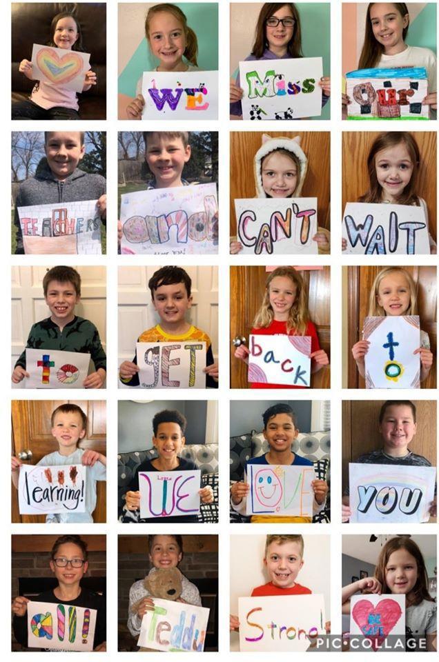 Student, teacher collages convey close connection despite ...