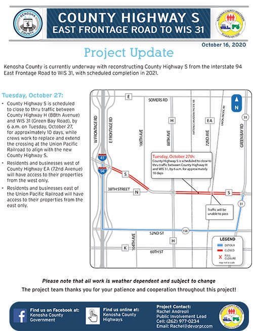 Highway S project update