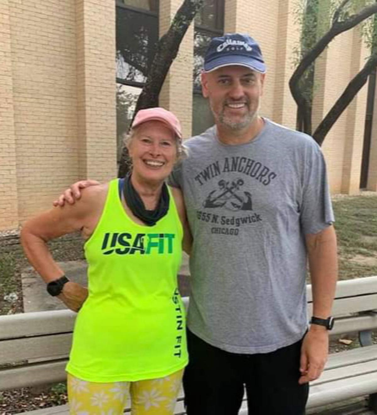 Karen Ostlund and Al Balmer runners
