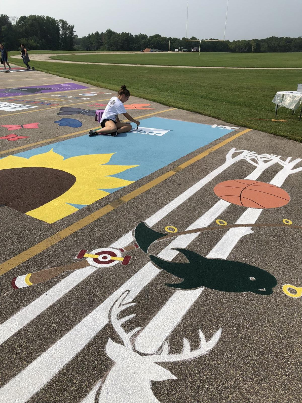 Creativity Marks The Spot Painted Parking Spaces Provide Funds And Family Time Education Kenoshanews Com