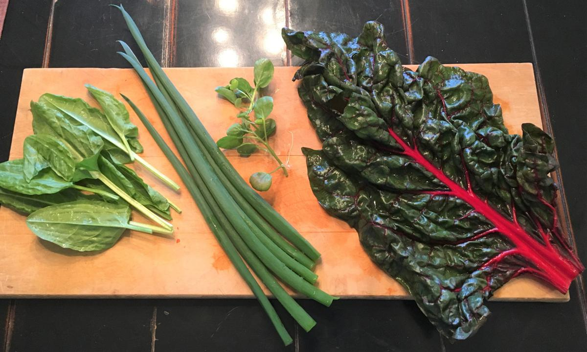 ingredients for watercress salad