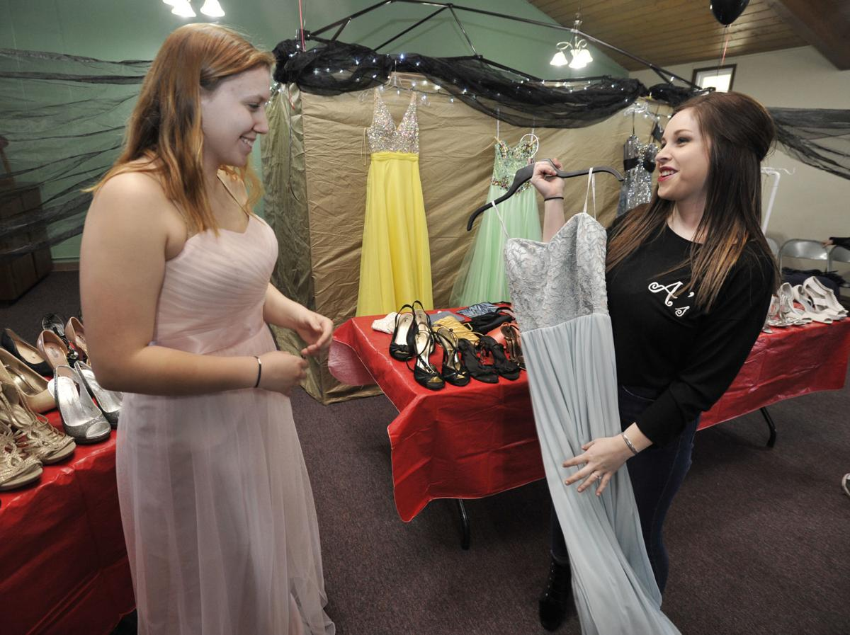 767991bdd44 Dozens find free prom dresses and accessories at annual event ...
