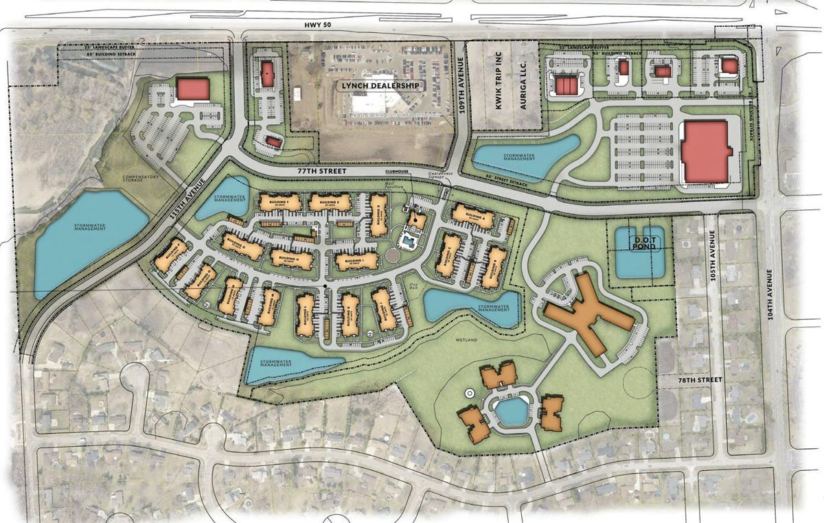 Site plan for proposed TID in Pleasant Prairie