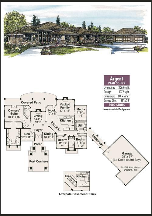 Home Plans Argent Offers Prairie Style Luxury