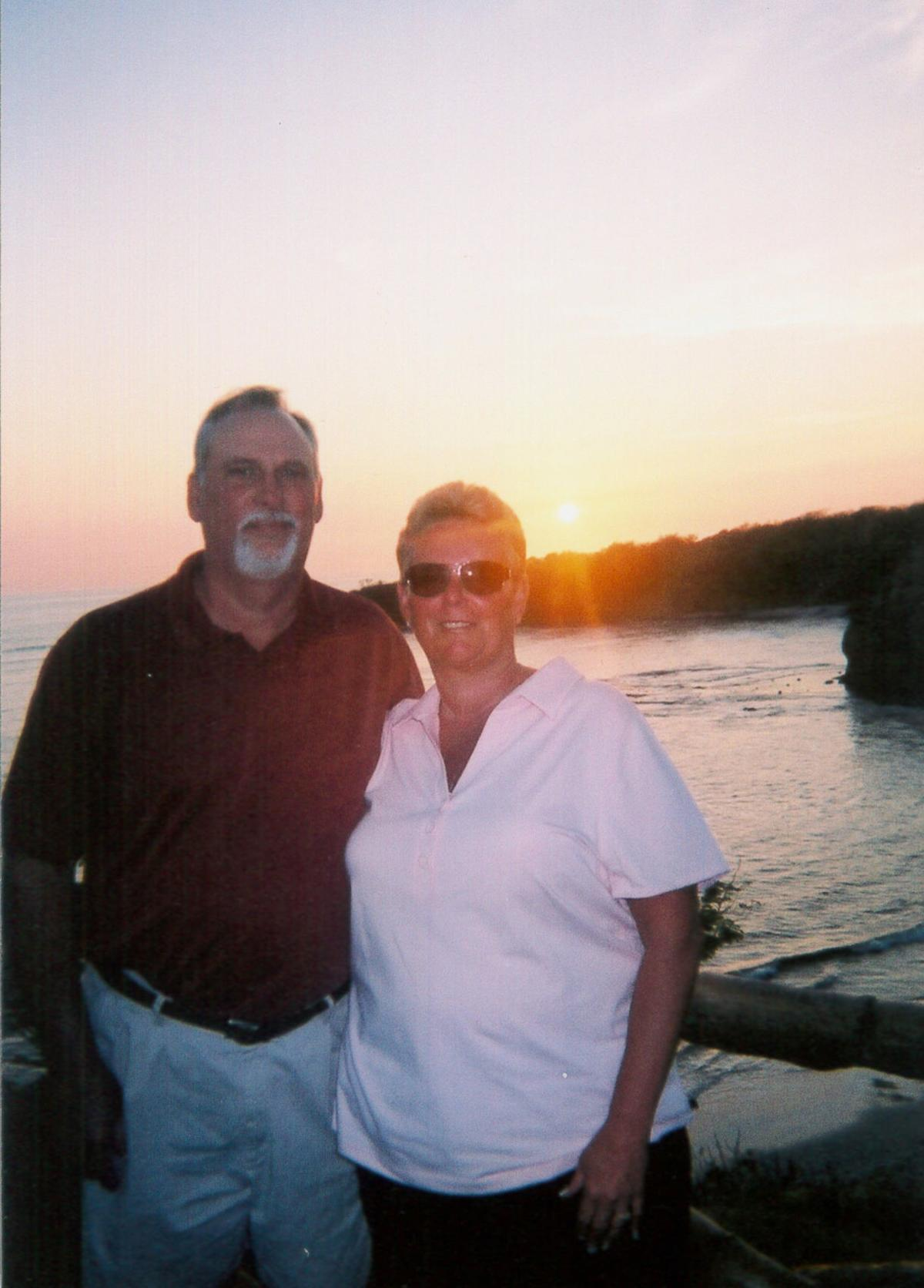 Al and Sue at sunset