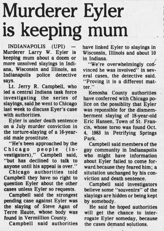 20 Oct 1986, Mon ·  Kenosha News (Kenosha, Wisconsin) ·  Page 22.pdf