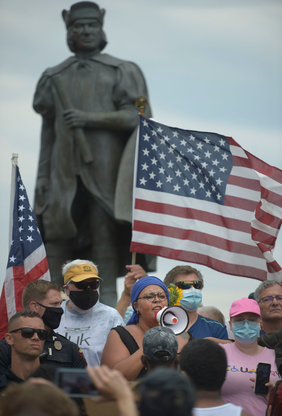 CHRISTOPHER COLUMBUS PROTEST