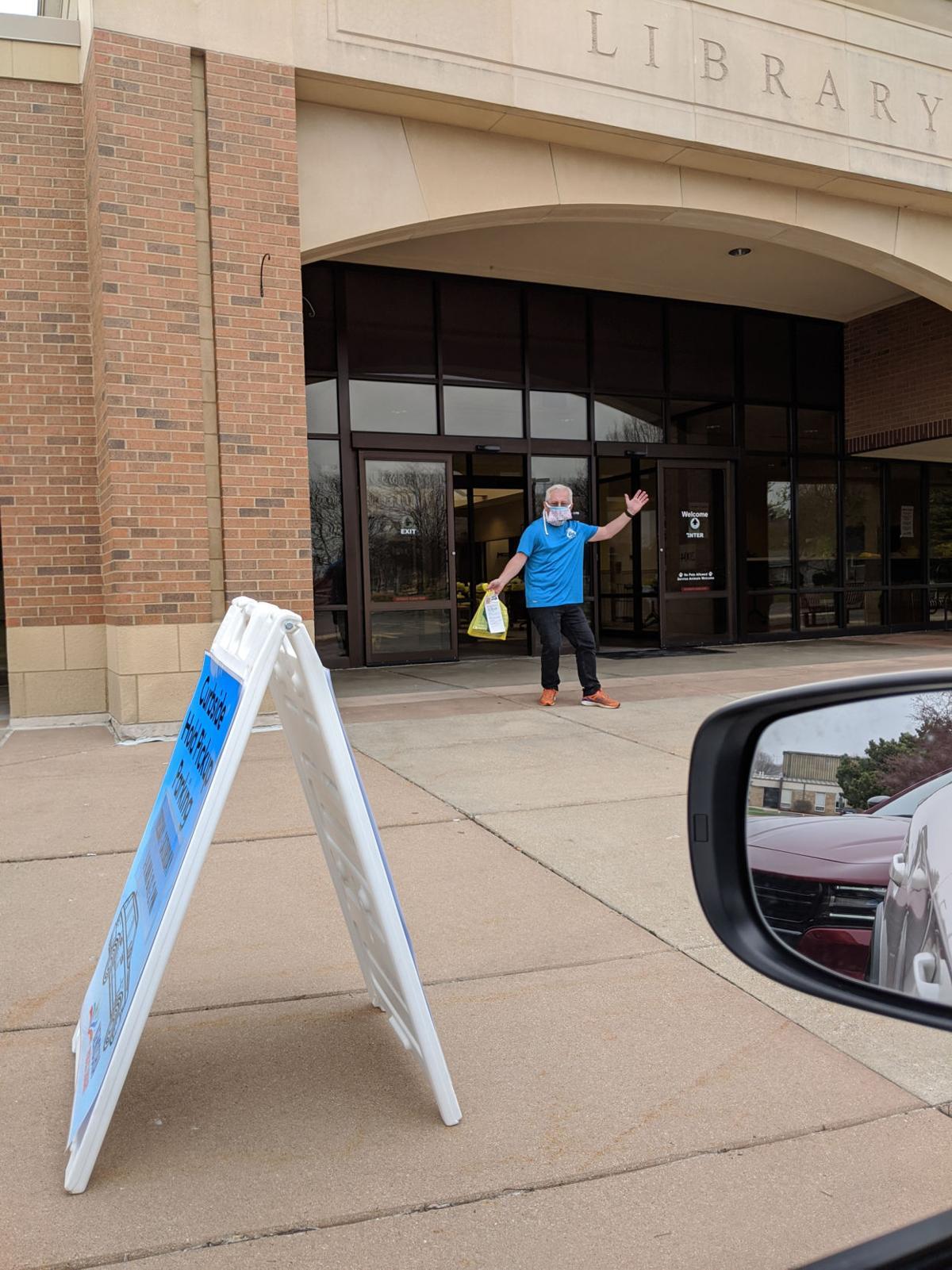 Library curbside pickup volunteer