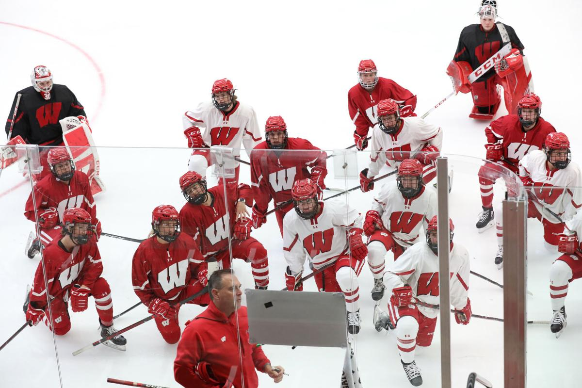 Badgers women's hockey practice