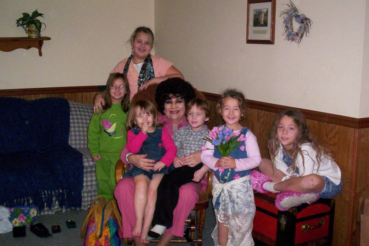 Berniece with grandchildren