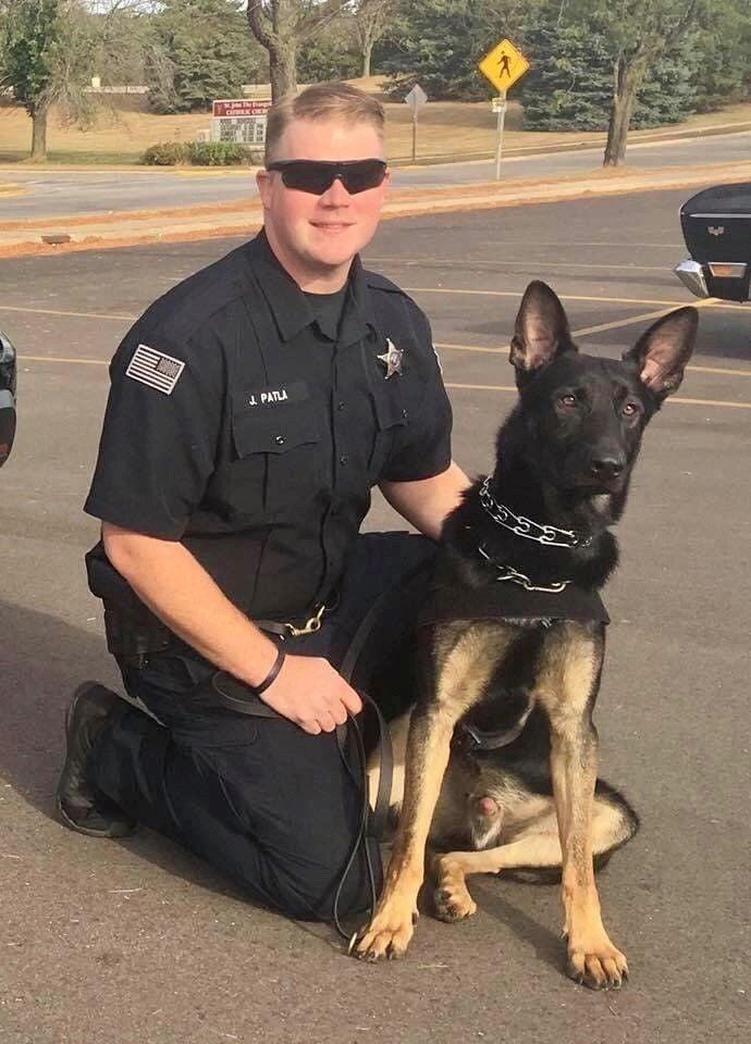 K9 Officer Joe Patla and Rex