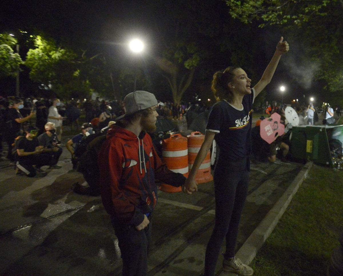 CIVIL UNREST AFTER OFFICER SHOOTING - TUESDAY
