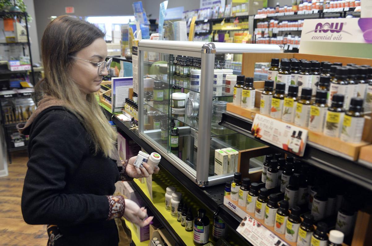 CBD oil at natural foods store