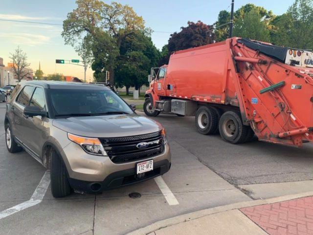 Dump trucks at intersections