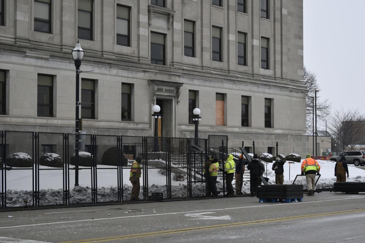 Fencing installed around Court House
