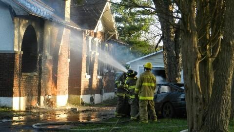 Christmas Eve fire damages home, destroys car