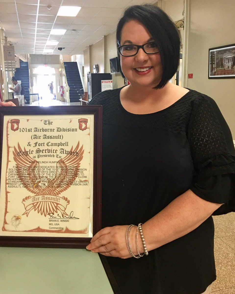 Humphries honored for efforts for military