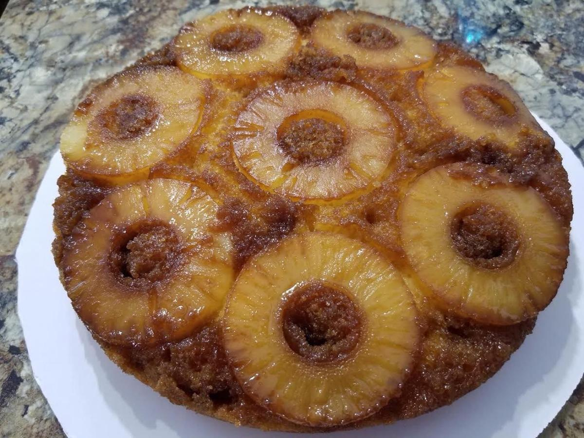 Desserts -- pineapple upside down cake