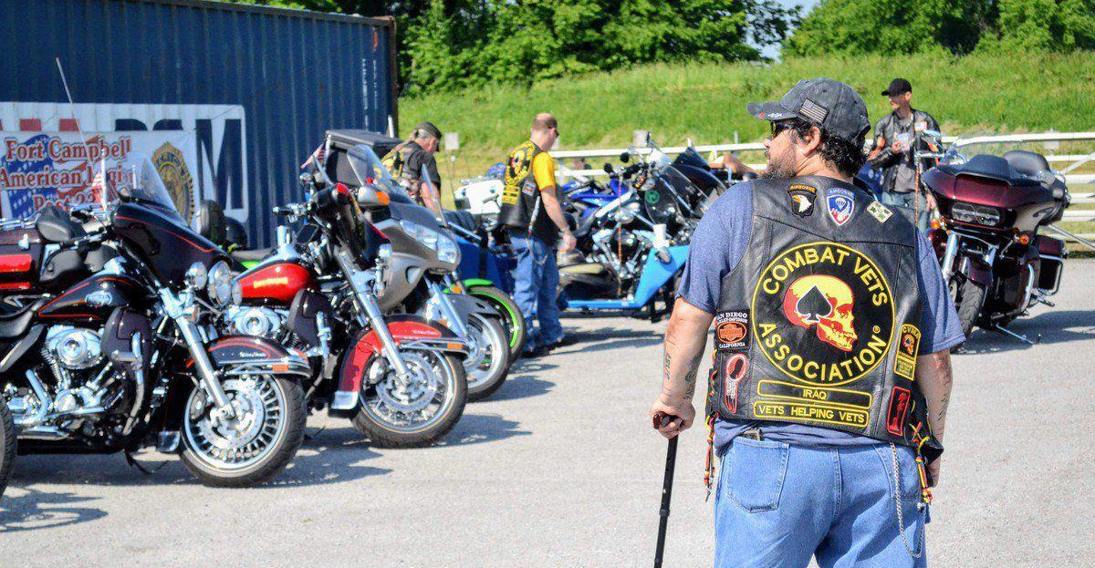 Hundreds of bikers ride in poker run