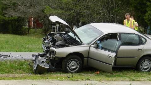 Head-on crash sends four to the hospital