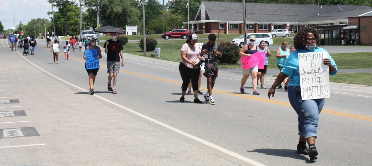 Protesters march to bring awareness to the Black Lives Matter movement