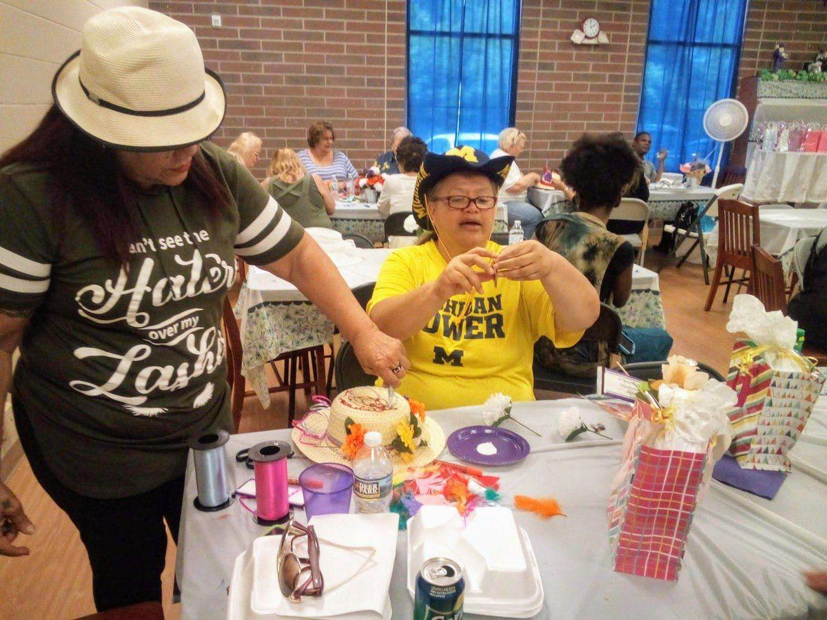 Young at Heart 50+ Club celebrates anniversary with luncheon, games