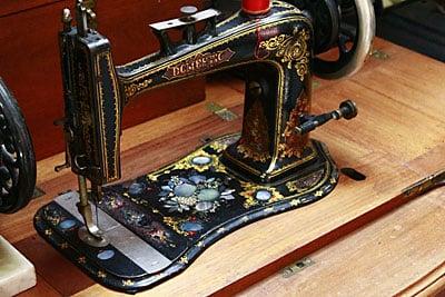 Sewing machine man