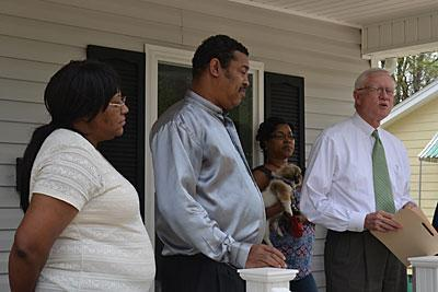 Couple presented with new home