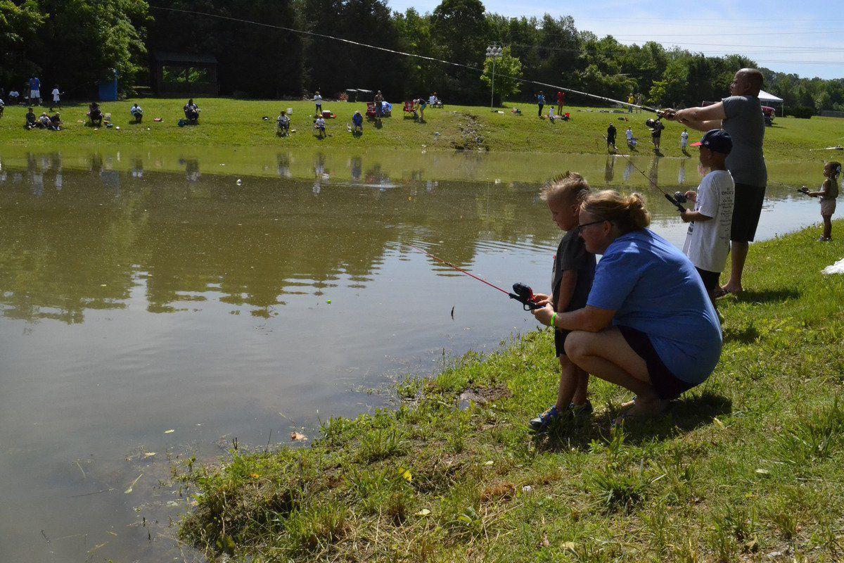 Kids rack up while fishing