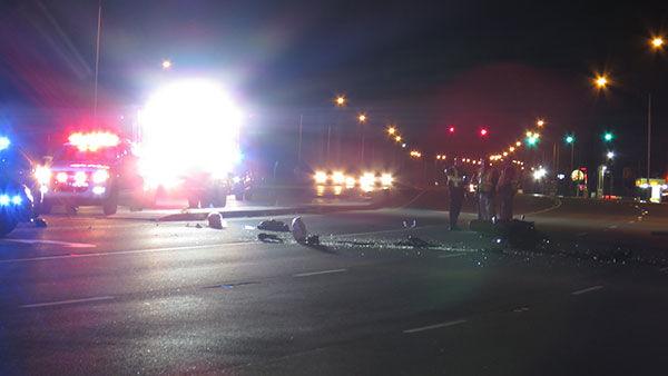 Motorcyclist severely injured in Oak Grove wreck