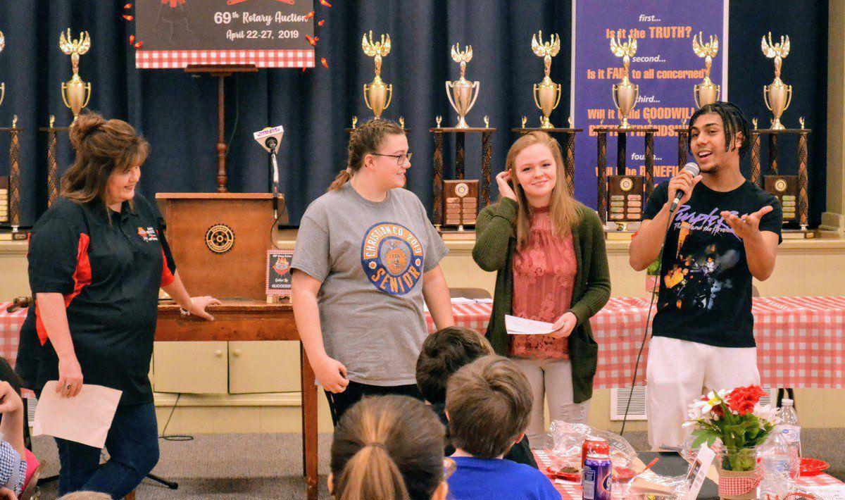 HEADLINE: Students gear up for rotary HEADLINE: Student pizza party kicks off rotary fundraising