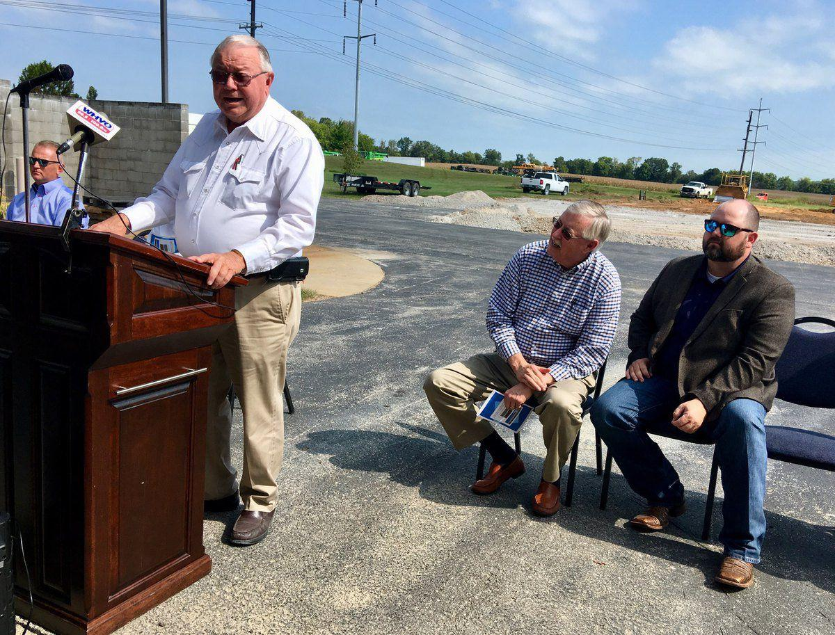 County extension service hosts groundbreaking for new ag facility