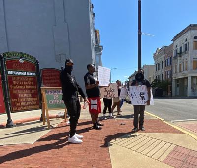 Voter suppression protest