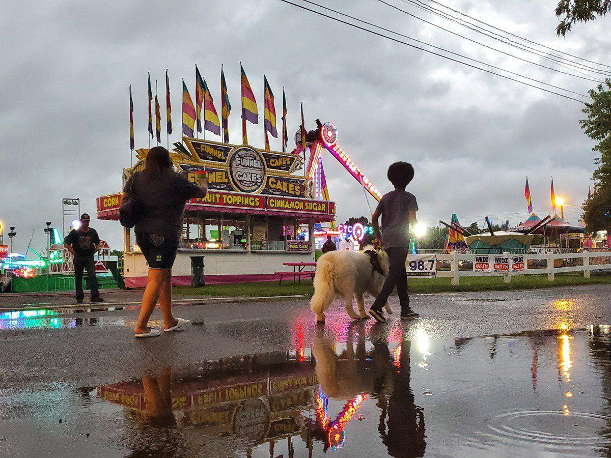 Rain washes out crowd first night of fair; opening concert continues