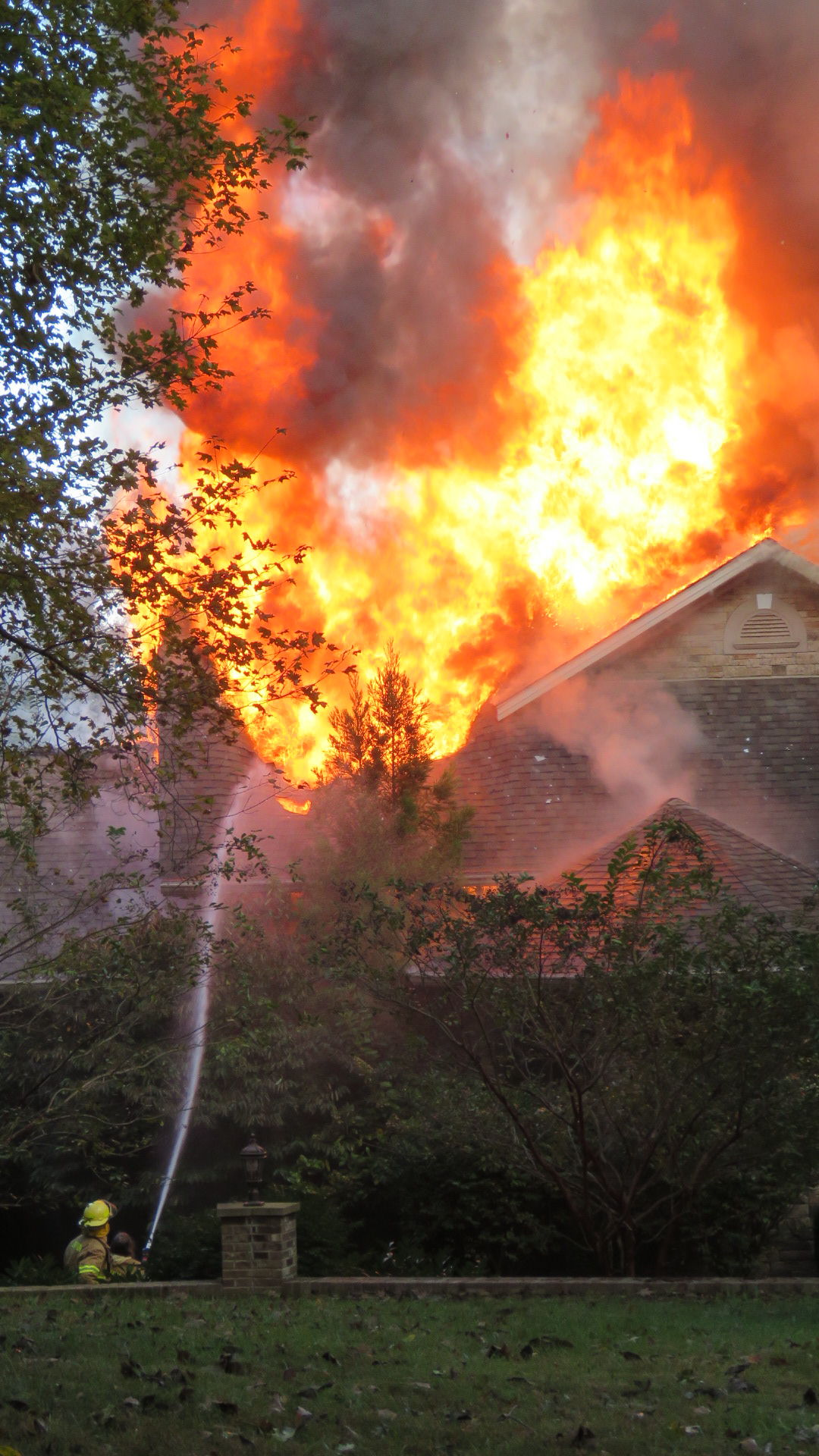Firefighters work to contain a fire in Trigg County | Photo
