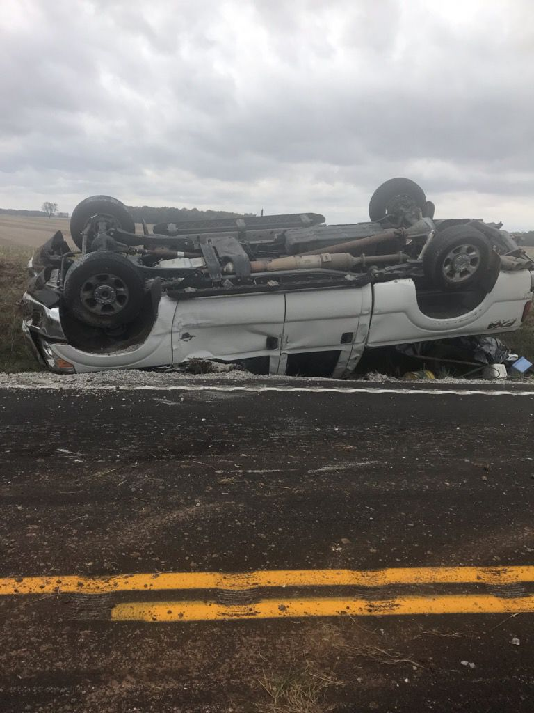 Trenton man injured in single-vehicle wreck