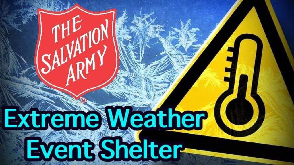 Salvation Army extreme weather shelter opens tonight