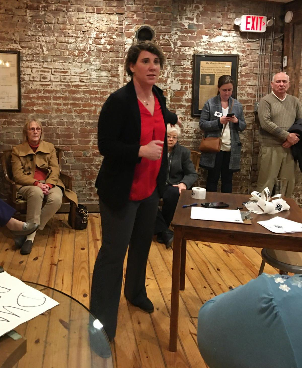 Amy McGrath talks of need for change in the U.S. Senate