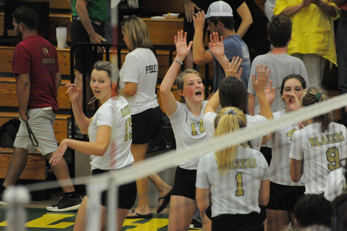 Lady Blazers sweep Lady Tigers in district battle