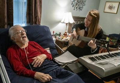 Music therapy ministers to patient's needs in 'winter of life'