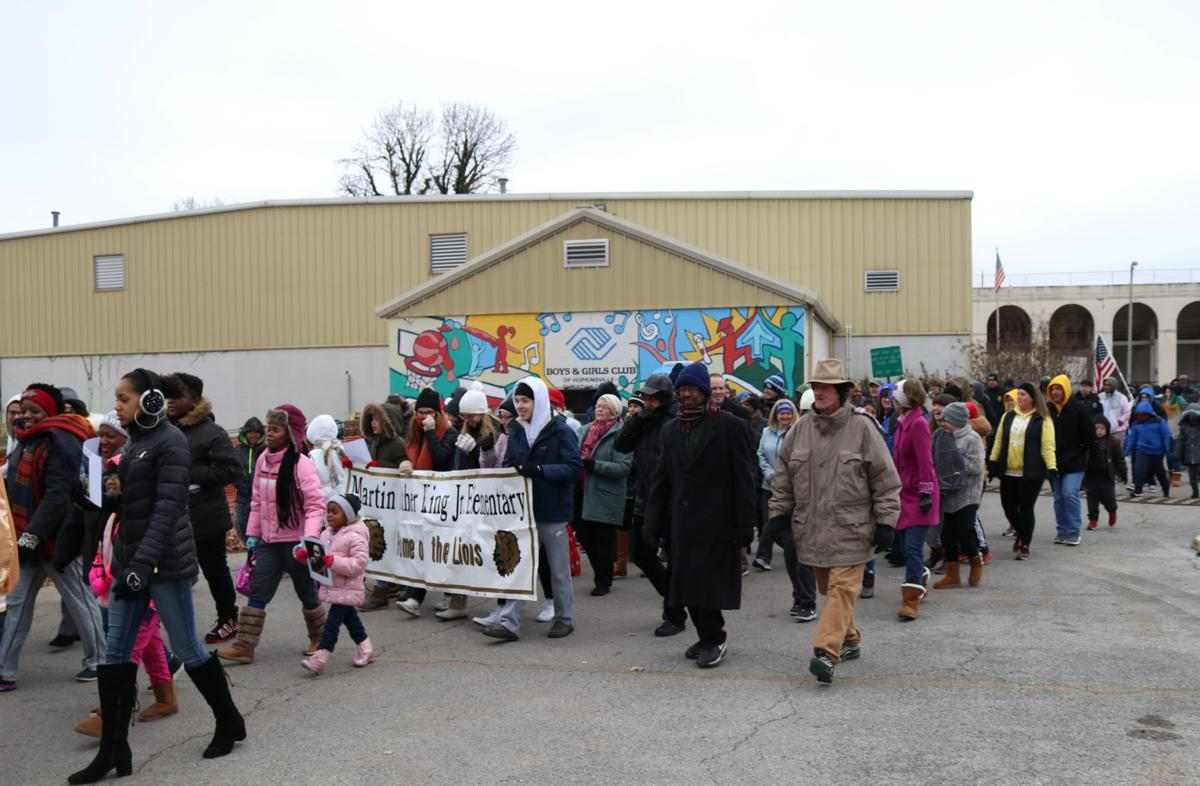 'Don't give up' is message of annual MLK march, service