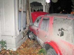 teen crashing to metal walls
